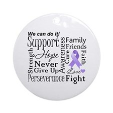 General Cancer Words Ornament (Round)