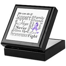 General Cancer Words Keepsake Box