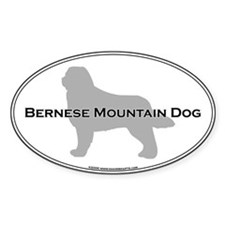 Bernese Oval Decal