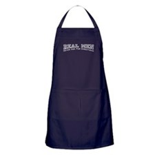 Real Men Never Ask For Directions Apron (dark)
