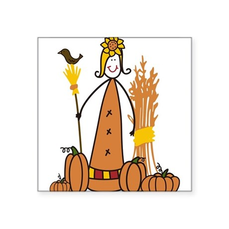 "Scarecrow Square Sticker 3"" x 3"""