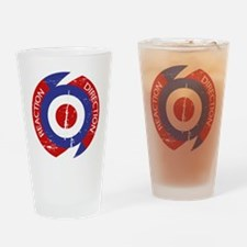 Reaction direction retro mod design Drinking Glass