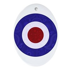Paisley style mod target Ornament (Oval)