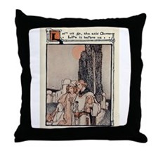 Cute Women vintage Throw Pillow