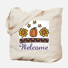 Welcome Flowers Tote Bag