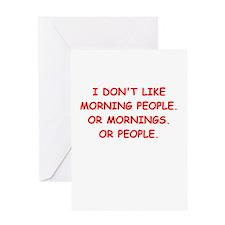 mornings Greeting Card