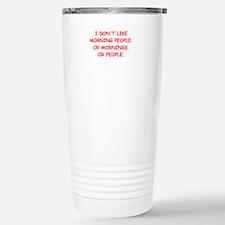 mornings Stainless Steel Travel Mug