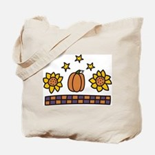 Sunflowers And Pumpkin Tote Bag