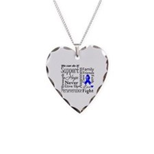 Colon Cancer Words Necklace