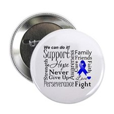 "Colon Cancer Words 2.25"" Button (10 pack)"
