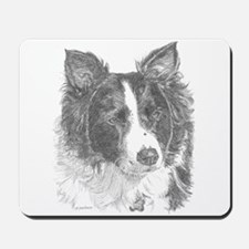 Border Collie Portrait Mousepad