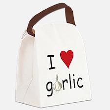 I Love Garlic Canvas Lunch Bag