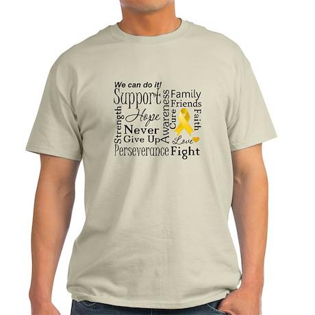 Childhood Cancer Words Light T-Shirt