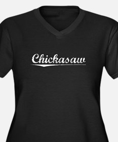 Aged, Chickasaw Women's Plus Size V-Neck Dark T-Sh