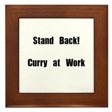 Stand Back! Curry at work Framed Tile