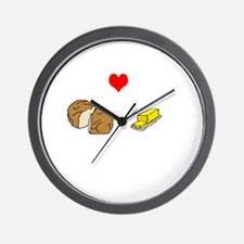 bread and butter Wall Clock