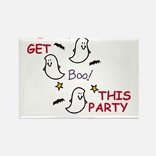 Party Ghosts Rectangle Magnet