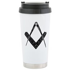Rustic Square and Compasses Travel Mug