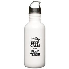 Keep Calm Play Tenor Water Bottle