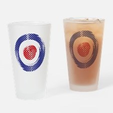 Retro look Mod target art Drinking Glass