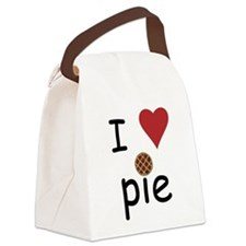 I Love Pie Canvas Lunch Bag