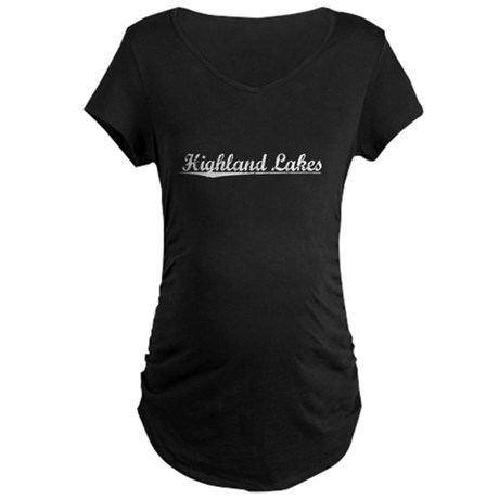 Aged, Highland Lakes Maternity Dark T-Shirt
