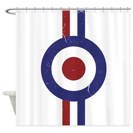 Aged And Faded Mod Target Stripes Shower Curtain By Scootertees