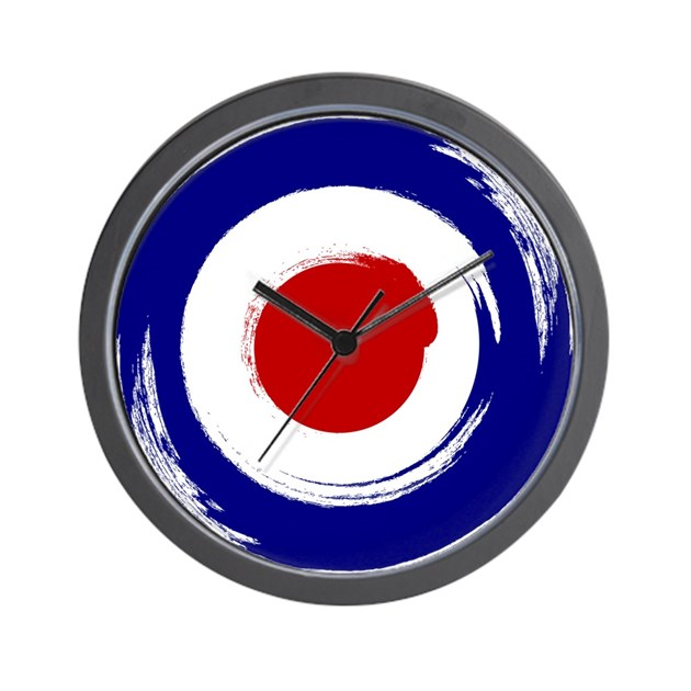 Paint stroke Mod Target design Wall Clock by ScooterTees