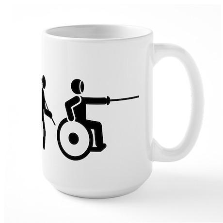 Wheelchair Fencing Large Mug