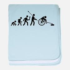 Wheelchair Curling baby blanket