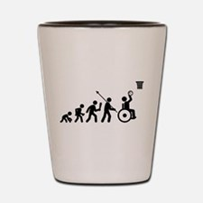 Wheelchair Basketball Shot Glass