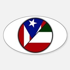 Italian / Puerto Rican Oval Decal