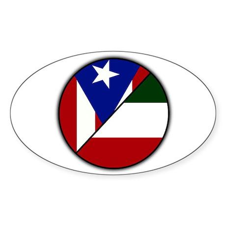 Italian / Puerto Rican Oval Sticker