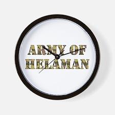Army of Helaman (camo) Wall Clock