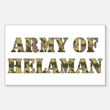Army of Helaman (camo) Rectangle Decal