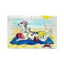 Dalmatian enjoying the sun Rectangle Magnet