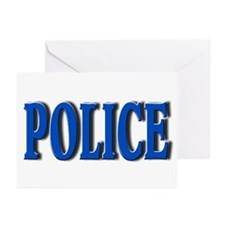 """""""Occupations Police White"""" Greeting Cards (Package"""