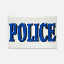 """Occupations Police White"" Rectangle Magnet"