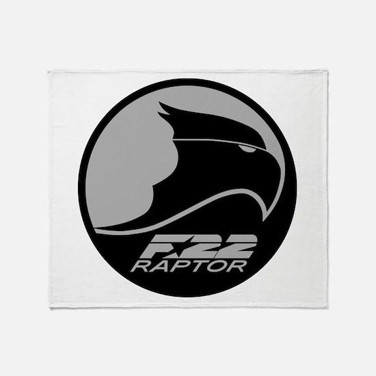 F-22 Raptor Throw Blanket