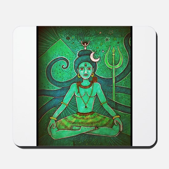 green shiva Mousepad