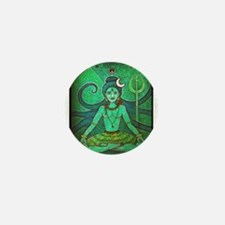 green shiva Mini Button