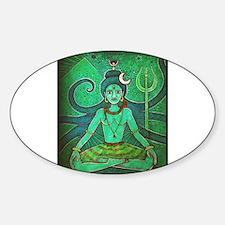 green shiva Sticker (Oval)