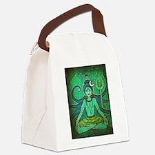 green shiva Canvas Lunch Bag