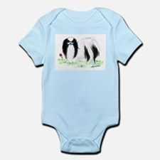 Japanese Chin and blue ball Infant Bodysuit