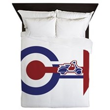 Retro Mod Target and scooter Arrows Queen Duvet