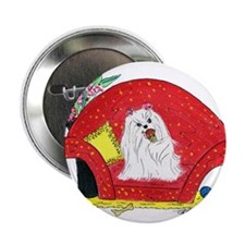 "Maltese spoiled with ice cream 2.25"" Button"
