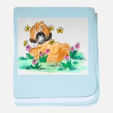 Lhasa Apso surrounded baby blanket