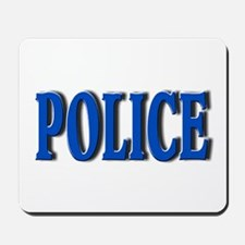 """""""Occupations Police White"""" Mousepad"""