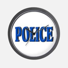 """""""Occupations Police White"""" Wall Clock"""