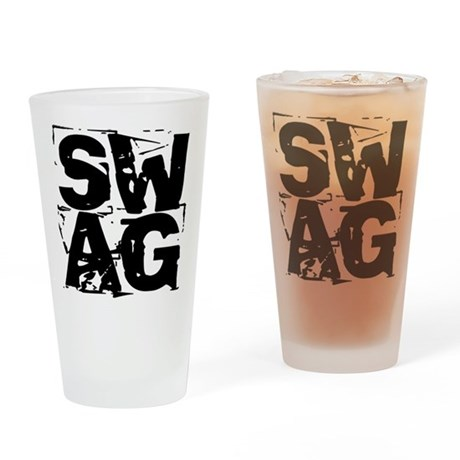 distressed SWAG Drinking Glass